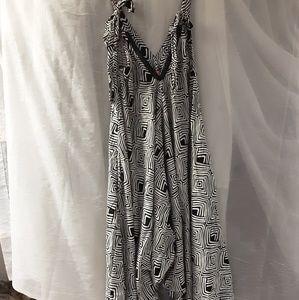 Dresses & Skirts - Geometric Harem Tie Jumpsuit  xl